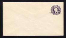 U448 UPSS# 2750-20 2c on 3c Dark Violet on White, die 1, Mint Entire