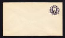 U448 UPSS# 2750-19 2c on 3c Dark Violet on White, die 1, Mint Entire