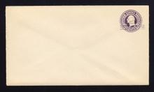 U448 UPSS# 2753-20 2c on 3c Dark Violet on White, die 1, Mint Entire
