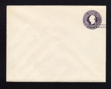 U448 UPSS# 2755-20 2c on 3c Dark Violet on White, die 1, Mint Entire