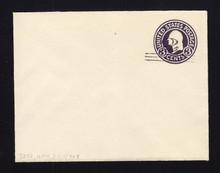 U448 UPSS# 2756-19 2c on 3c Dark Violet on White, die 1, Mint Entire