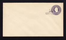 U448c UPSS# 2766-19 2c on 3c Dark Violet on White, die 7, Mint Entire