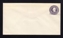U448c UPSS# 2766-20 2c on 3c Dark Violet on White, die 7, Mint Entire