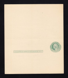 UY6 UPSS# MR12 Sep 3, 1c Washington, double frame Mint UNFOLDED