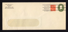 U532b UPSS# 3299a-45 1c Green, die 3, Used Entire, Private Precancel over Stamp