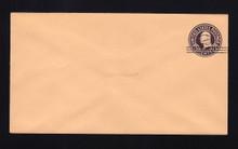 U450b UPSS# 2796-20 2c on 3c Dark Violet on Oriental Buff, die 6, Mint Entire