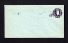 U461e UPSS# 2908a-19 2c on 3c Dark Violet on Blue, die 5, Mint Entire, Double Surcharge