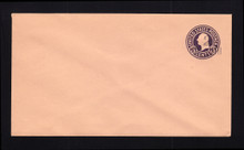 U470b UPSS# 3007-19 2c on 3c Dark Violet on Oriental Buff, die 6, Mint Entire
