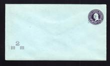 U471b UPSS# 3016-20 2c on 3c Dark Violet on Blue, die 6, Mint Entire, Add'l Surcharge LL