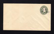 U490 UPSS# 3083-15 1 1/2c on 1c Green on White, die 1, Mint Entire