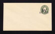 U490 UPSS# 3084-19 1 1/2c on 1c Green on White, die 1, Mint Entire