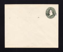 U490 UPSS# 3090-15 1 1/2c on 1c Green on White, die 1, Mint Entire