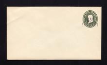 U490 UPSS# 3093b-15 1 1/2c on 1c Green on White, die 1, Mint Entire