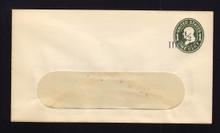 U490c UPSS# 3101-19 1 1/2c on 1c Green on White, die 4, Mint Entire