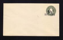 U495 UPSS# 3120-20 1 1/2c on 1c Green on White, die 1, Mint Entire