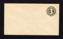 U495 UPSS# 3120-24 1 1/2c on 1c Green on White, die 1, Mint Entire
