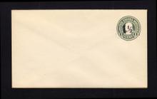 U495 UPSS# 3120-25 1 1/2c on 1c Green on White, die 1, Mint Entire