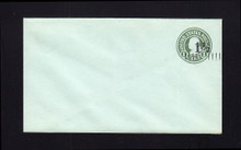 U498a UPSS# 3150-25 1 1/2c on 1c Green on Blue, die 1, Mint Entire