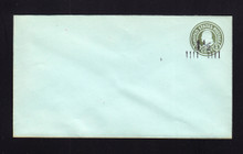 U498a UPSS# 3152-25 1 1/2c on 1c Green on Blue, die 1, Mint Entire