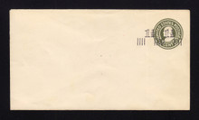 U515 UPSS# 3211a-25 1 1/2c on 1c Green on White, die 1, Mint Entire, Double Surcharge