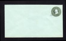 U518b UPSS# 3238-25 1 1/2c on 1c Green on Blue, die 3, Mint Entire
