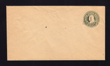 U519 UPSS# 3244-0 1 1/2c on 1c Green on Manila, Mint Entire, Add'l Surcharge Left