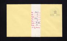 U459a UPSS# 2877-20 2c on 3c Dark Violet on Amber, die 1, Mint Entire, Albino