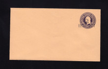 U460a UPSS# 2896-20 2c on 3c Dark Violet on Oriental Buff, die 1, Mint Entire