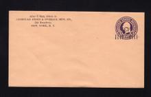 U460a UPSS# 2897-19 2c on 3c Dark Violet on Oriental Buff, die 1, Mint Entire