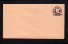 U460a UPSS# 2898-19 2c on 3c Dark Violet on Oriental Buff, die 1, Mint Entire