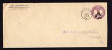 U349 UPSS# 1161 2c Violet on White, Die 95C, Type 9, Used Entire, PA