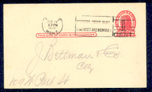 UX32 UPSS# S44-42, Seattle Surcharge, Used Postal Card