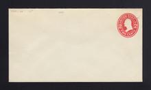 """U411c UPSS# 1715-20 2c Carmine on White, die 4, Mint Entire, Broken """"E"""""""