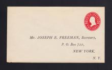 U411c UPSS# 1708-17 2c Carmine on White, die 4, Mint Entire, Printed Add, Tear LL