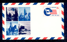 UXC5 UPSS# SA5 11c Visit the USA Mint Postal Card