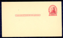 "UX33 UPSS# S45-28, New York ""Large Cent"" Surcharge, Mint Postal Card"