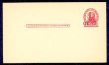 UX33 UPSS# S45-36, Pueblo Surcharge, Mint Postal Card