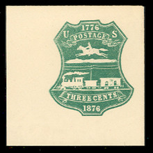 U219 3c Green on White, die 1, Mint Full Corner, 50 x 50