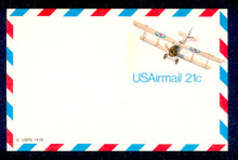 UXC17 UPSS# SA16 21c Curtiss Jenny Mint Postal Card