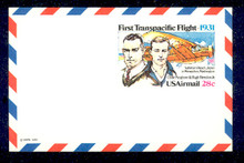UXC19 UPSS# SA18 28c First Transpacific Flight Mint Postal Card