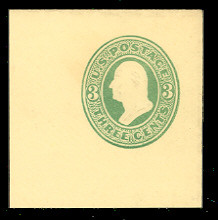 U164 3c Green on Amber, die 2, Mint Full Corner, 50 x 50