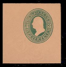 U167 3c Green on Fawn, die 2, Mint Full Corner, 50 x 50