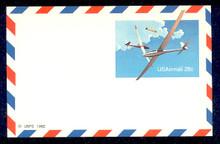 UXC20 UPSS# SA19 28c Gliders Mint Postal Card