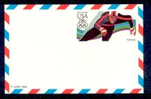 UXC21 UPSS# SA20 28c Speedskater Mint Postal Card