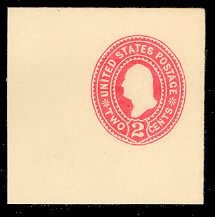 U358 2c Carmine on White, die 1, Mint Full Corner, 50 x 50