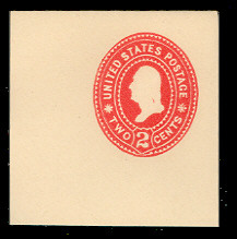 U362 2c Carmine on White, die 2, Mint Full Corner