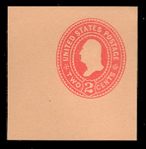 U364 2c Carmine on Oriental Buff, die 2, Mint Cut Square
