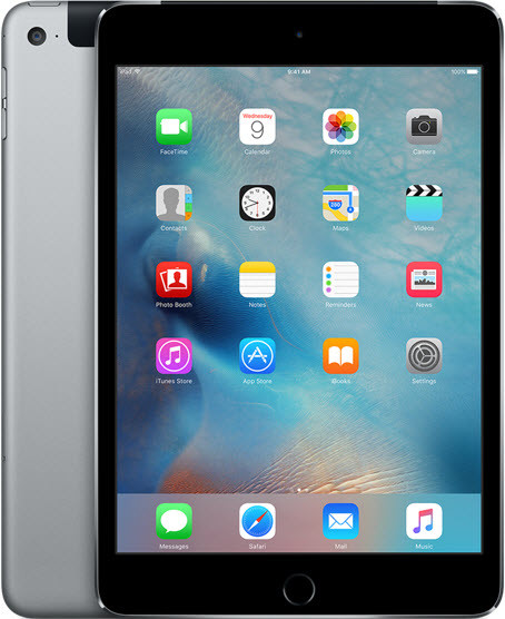 iPad Mini 4 WiFi 4G LTE Cellular A1550