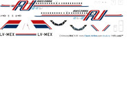 1/144 Scale Decal Austral BAC-111 Last in Service