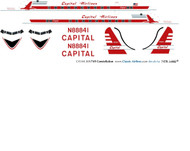 1/144 Scale Decal Capital Airlines DC-4